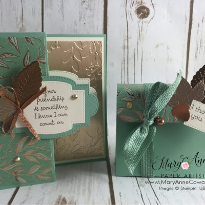 Gilded Autumn Card with Matching gift Box