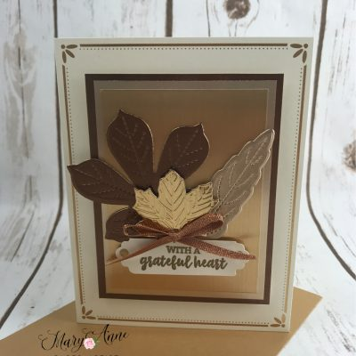 Stitched Leaves WOW Cards