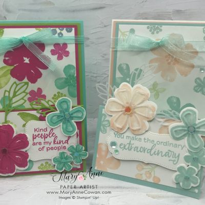 Double Easel Fold Featuring Pretty Perennials!